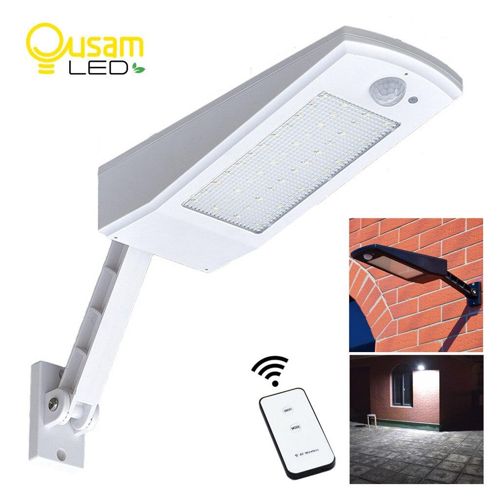 Verbesserte Solar Licht PIR Motion Sensor 48 LED Einstellbare Solar Powered Lampe 900LM Birne Auto Für Wasserdichte Garten Wand Beleuchtung