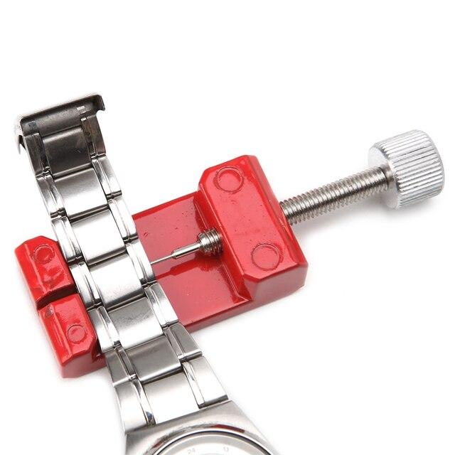 Nueva herramienta de reparación de mango útil removedor de eslabones de correa de reloj con 3 pines Extra