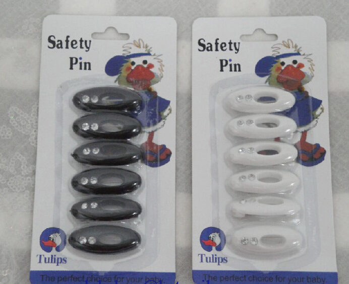 P002a popular style safety pins scarf pins fast delivery black and white 2 colors