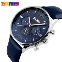 Montres Hommes De Luxe Top Marque SKMEI Nouveaux Hommes De Mode Grand Designer Dial Quartz Montre Homme Montre-Bracelet relogio masculino relojes 9117
