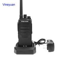 מכשיר הקשר Vineyuan K12 צריכת חשמל גבוהה 12W ארוך טווח 6800 mAh מכשיר הקשר UHF 400-470 Mhz שני הדרך רדיו כף יד FM משדר Interphone (1)