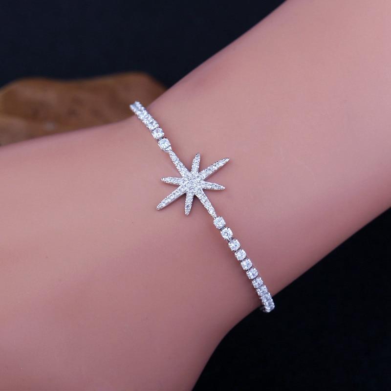 MIGGA Elegant Cubic Zirconia Star Armbånd til Kvinder Hvid / Rose - Mode smykker - Foto 3