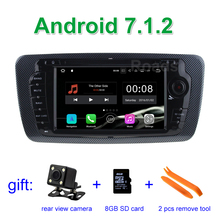 2 GB RAM Android 7.1.2 Lecteur DVD de Voiture pour Seat Ibiza 2009 2010 2011 2012 2013 avec Bluetooth WiFi Radio GPS