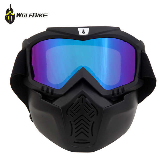 36e64f4ef9e WOLFBIKE Cycling Eyewear Airsoft Paintball Goggles Ski Snowboard Motorcycle  Windproof Mask Outdoor Sports Dustproof Glasses