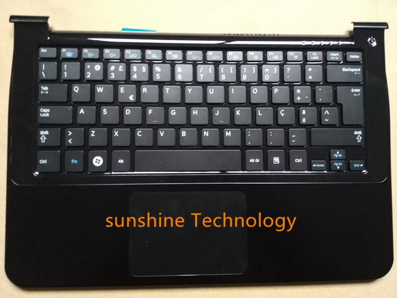 Portuguese layout new laptop keyboard with touchpad palmrest for samsung BA75-02899L NP900X3A 900X3A ru latin layout backlit new laptop keyboard with touchpad palmrest for samsung rf712 ba75 03150k