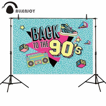 Allenjoy photo backdrop photography blue abstract back to the 90's party background for photo shoots photocall photophone image