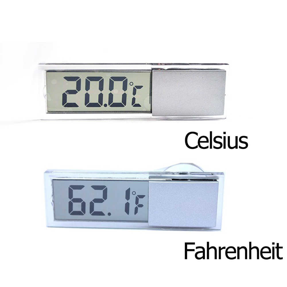 Car Digital Thermometer/Clock Auto Window Thermometer Celsius Fahrenheit Car Digital Clock Car Accessories