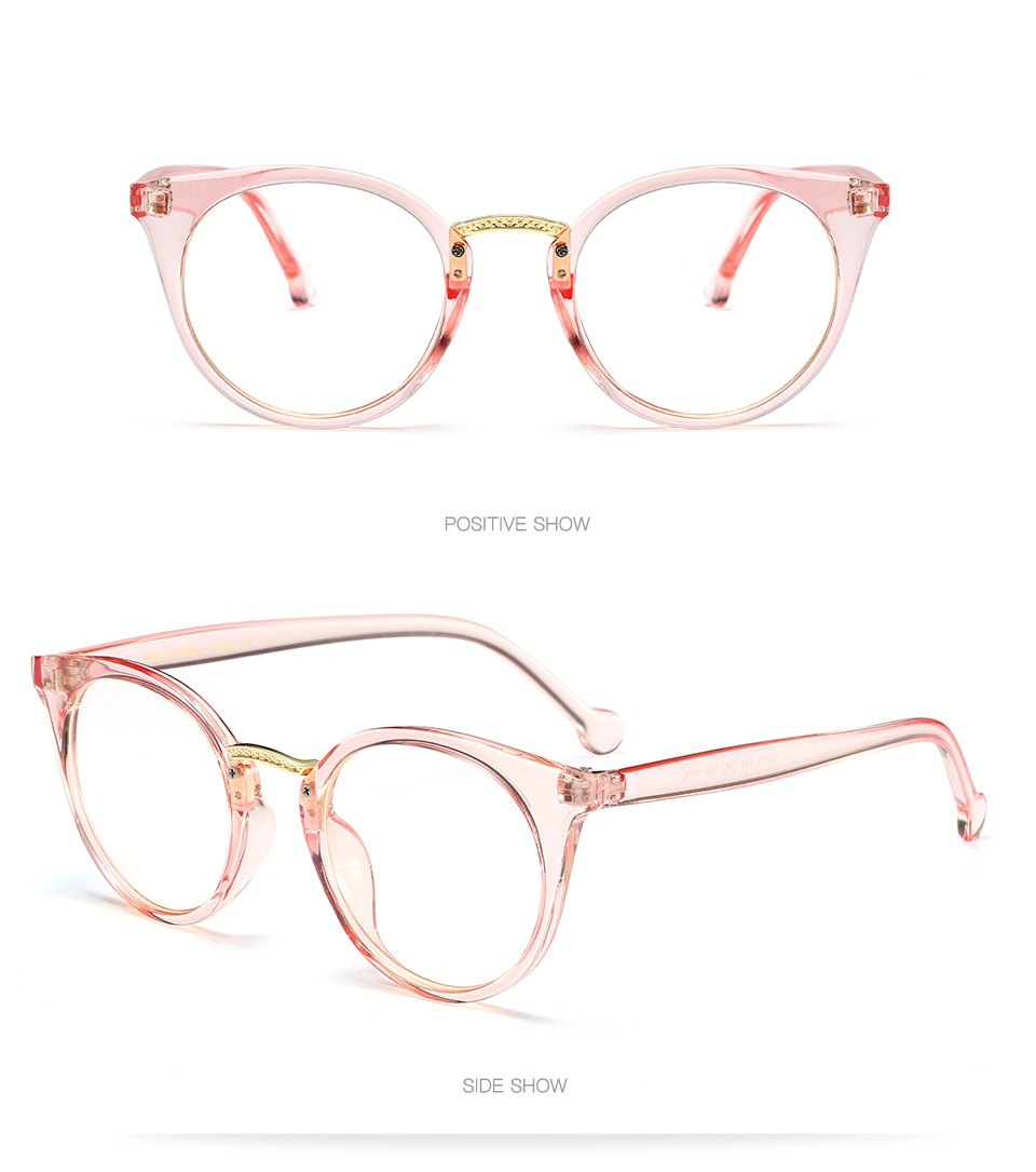 6437eacaad Vazrobe Cat Eye Glasses Women Transparent Pink Eyeglass Frame with ...