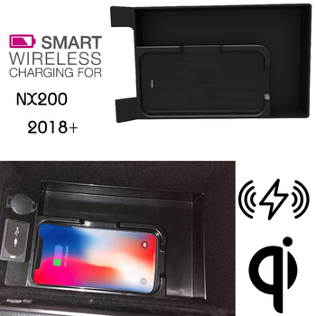 For Lexus QI Wireless charging Hidden Wireless charger Phone Holder Storage Box For NX200 2018~2019