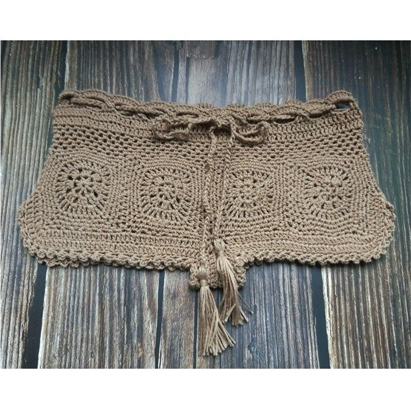 Boho Knit Crochet Beach Shorts 12