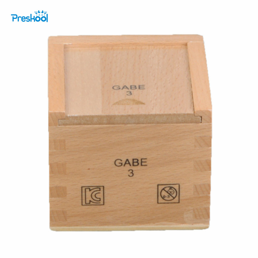 Montessori Baby Kids Toys Wood Cube Frobel Gabe 3 Creativity Develope Preschool Training Learning Educational Brinquedos Juguets