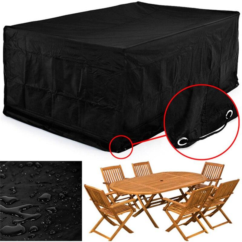 315*160*74CM étanche à la poussière meubles housse de Protection bâche jardin Patio Table basse chaise étanche canapé ensemble Protection