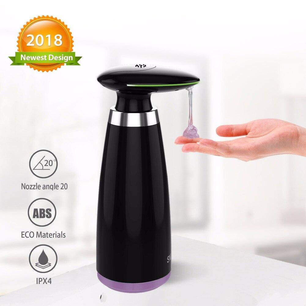SVAVO 340ml Automatic Soap Dispenser Infrared Touchless Motion Bathroom Dispenser Smart Sensor Liquid Soap Dispenser For Kitchen