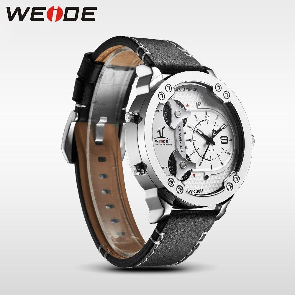 Weide klok luxe quartz horloges Mannen wit sport elektronisch horloge - Herenhorloges - Foto 3