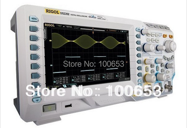 цена Rigol DS2072A Oscilloscope 70MHz 2Channels 2GSa/s Memory Depth 14Mpts 8 Inches TFT LCD USB