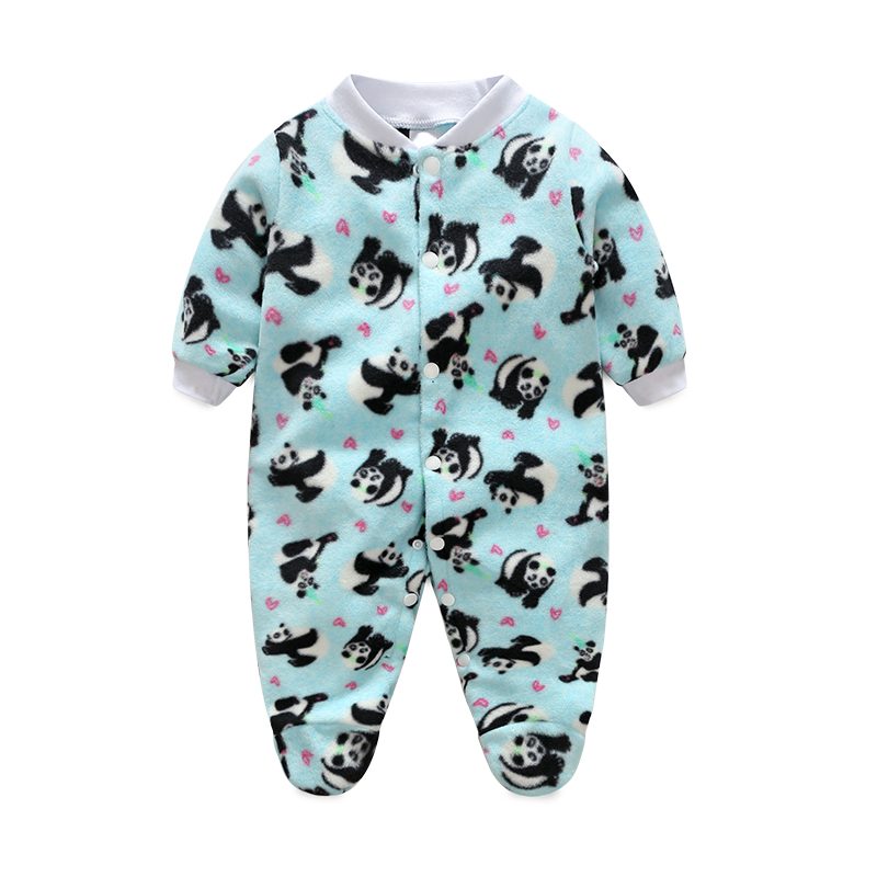 Cartoon Animal Newborn Baby Rompers Spring Long Sleeve Baby Wear Infant Jumpsuit Boy Girl Winter Clothes Roupas De Bebe Infantil cartoon fox baby rompers pajamas newborn baby clothes infant cotton long sleeve jumpsuits boy girl warm autumn clothes wear