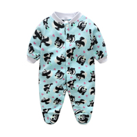 Cartoon Animal Newborn Baby Rompers Spring Long Sleeve Baby Wear Infant Jumpsuit Boy Girl Winter Clothes