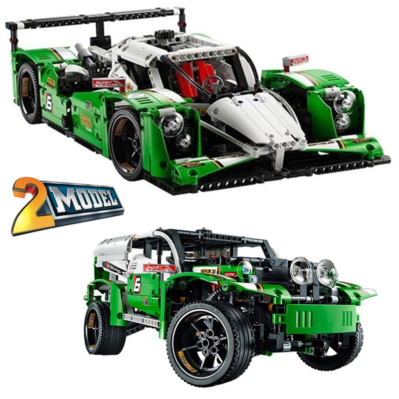 DECOOL Technic City Series 2-in-1 24 Hours Race Car Building Blocks Bricks Model Kids Toys Marvel Compatible Legoings decool technic city series excavator building blocks bricks model kids toys marvel compatible legoe