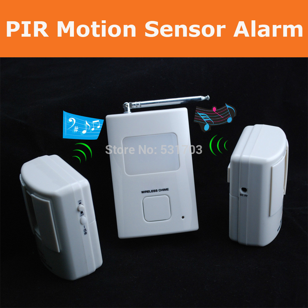 NEW Wireless Alarm PIR Motion Sensor Detector Safety Alert For Home Security Alarm Systems With Nightlight Welcome Device