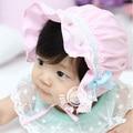Infantil del bebé niños de flor del cordón del bowknot cap beanie sombrero de sun sombreros capó 3-24 meses