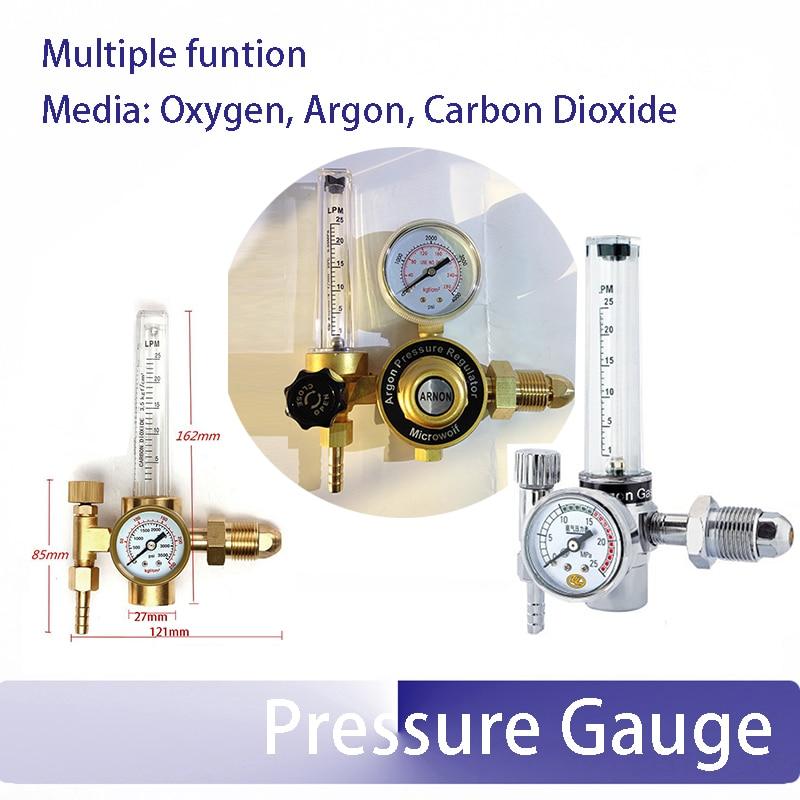 G5/8 external thread Oxygen Argon Carbon Dioxide CO2 Gas Pressure Reducer Pressure reducing valve pressure gauge  цены