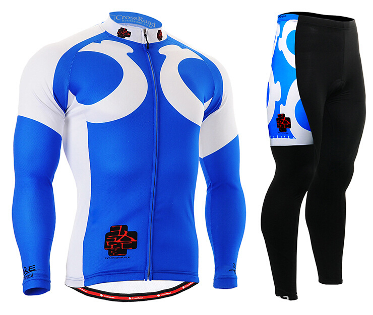 Brand Mens Bike Jerseys Set Team Cycling Clothings Long Sleeve Spring/Autunmn Bicycle Clothes Blue Color Ciclismo life on track cycling clothings bike bicycle jerseys long lasting wolf graphic women long sleeves ergonomic designs tops shirts