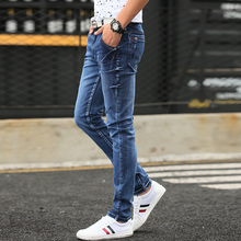 Jeans men's 2019 new slim jeans, high-quality casual stretch
