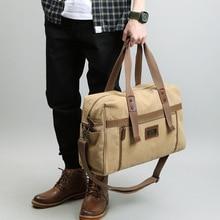 Купить с кэшбэком Canvas Men Travel Bags Retro leisure Carry on Casual Luggage Bag Large capacity Tote Messenger Baggage Crossbody bag