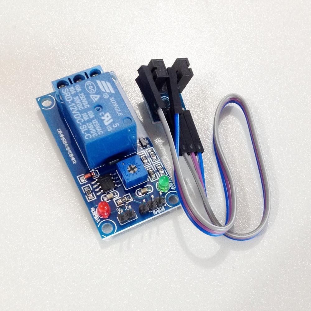 LED Indicator Light 1-Channel Relay Module w Slotted Optical Sensor photosensitive resistance relay control module optical switch light sensor module 12v dc12v