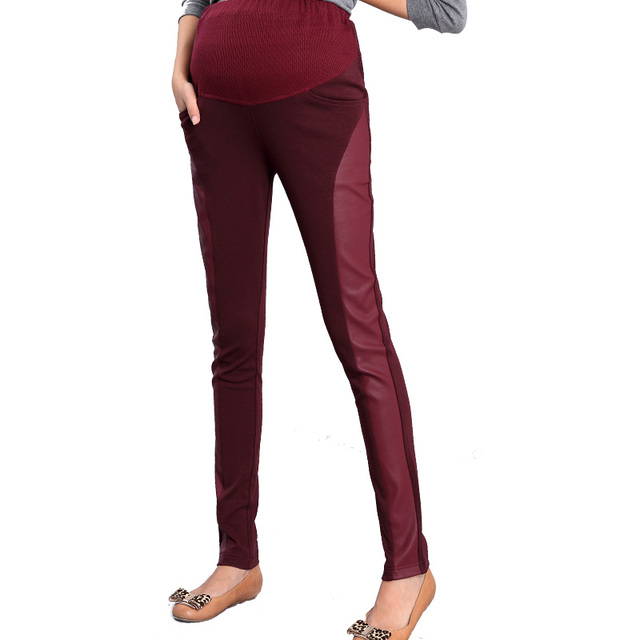 Sale 2pcs/lot new Maternity legging autumn maternity belly pants trousers patchwork skinny pants FREE SHIPPPING