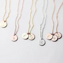 Крошечное золотое ожерелье с первоначальным именем, золото, серебро, 26 букв, ожерелье с инициалами, Подвеска для женщин, девушек, лучший подарок на день рождения