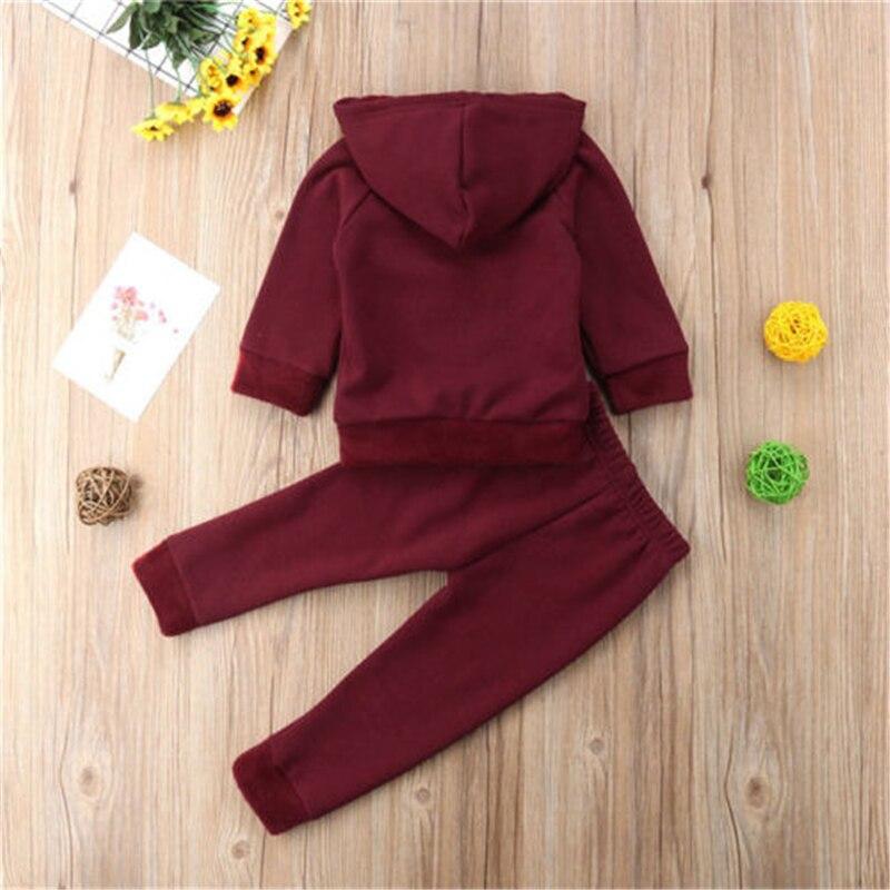 2Pcs Newborn Toddler Baby Boys Girl Red Heart Sunsuit Set Kids Girls Cotton Hooded Sweatshirt Tops Long Pants Outfit Set Clothes