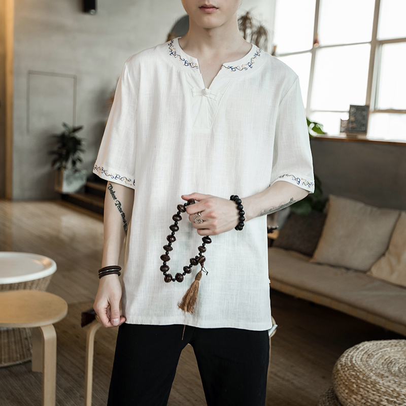 2018 casual black and white In National Customs Flax Embroidery Lowest The new listing Fashion Free shipping Favourite