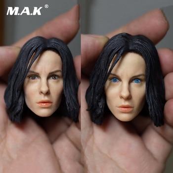 1/6 Kate Beckinsale Black/Blue Eyes Head Sculpt Underworld Selene Female Head for 12 inches Action Figure