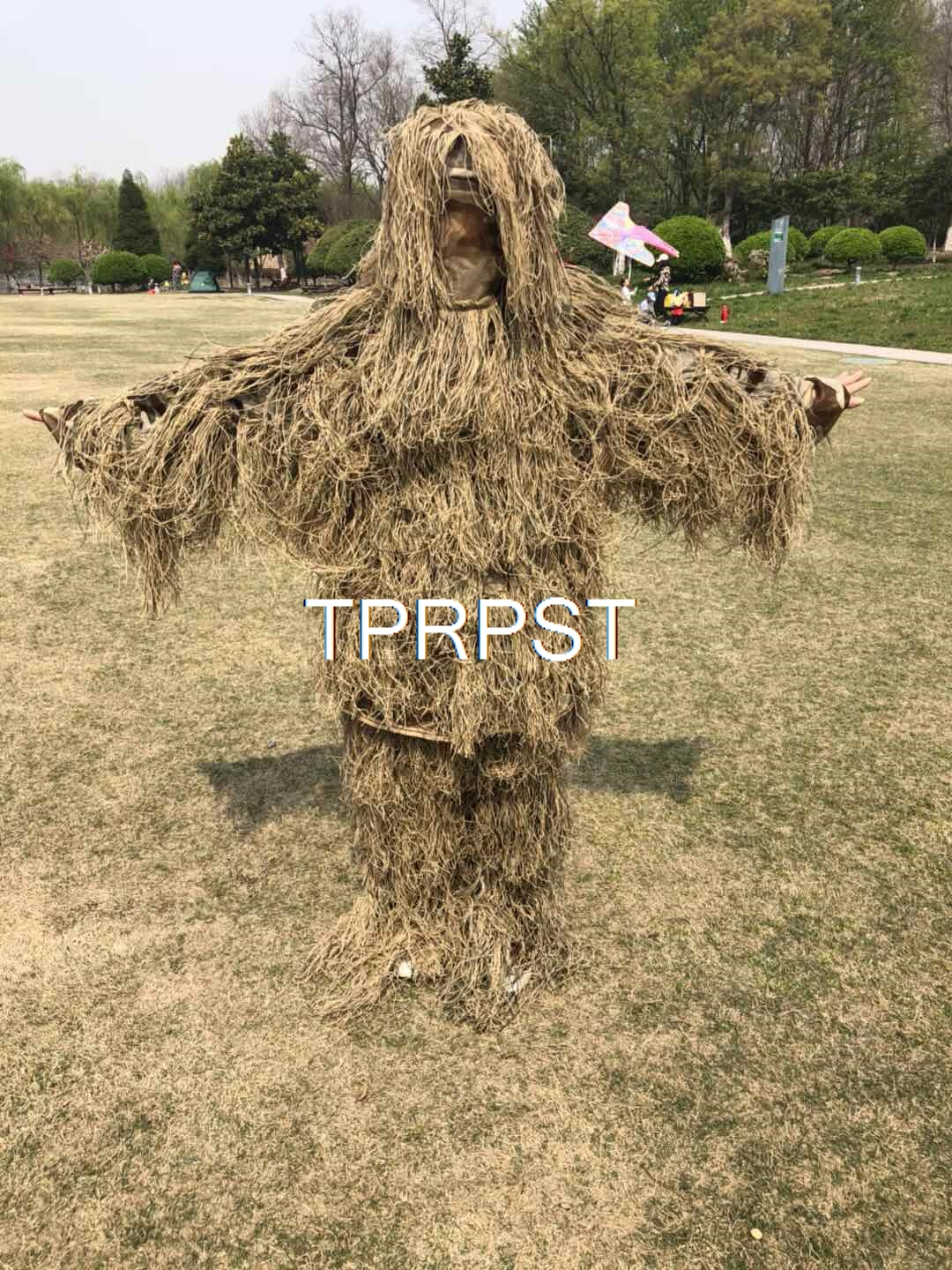 5pcs set sniper ghillie suit desert camouflage type camo chillie tactical camouflage suit hunting