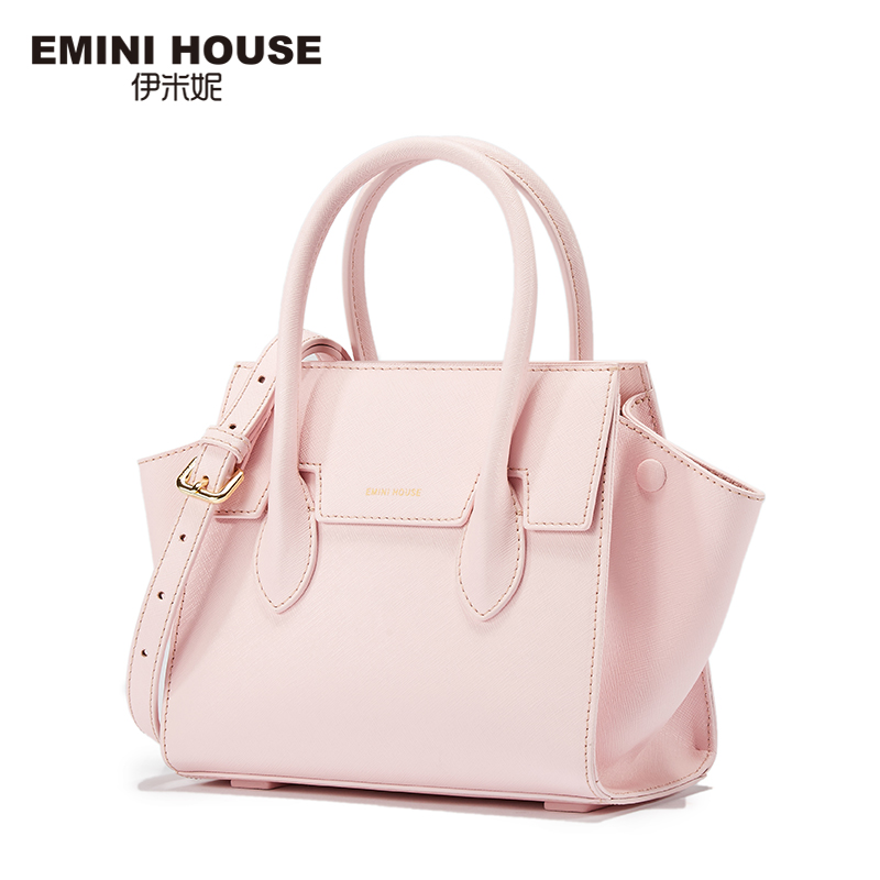 EMINI HOUSE Fashion Trapeze Bag Split Leather Handbag Luxury Handbags Women Bags Designer Crossbody Bags For Women Shoulder Bag серьги fashion house даниэлла цвет серебряный белый