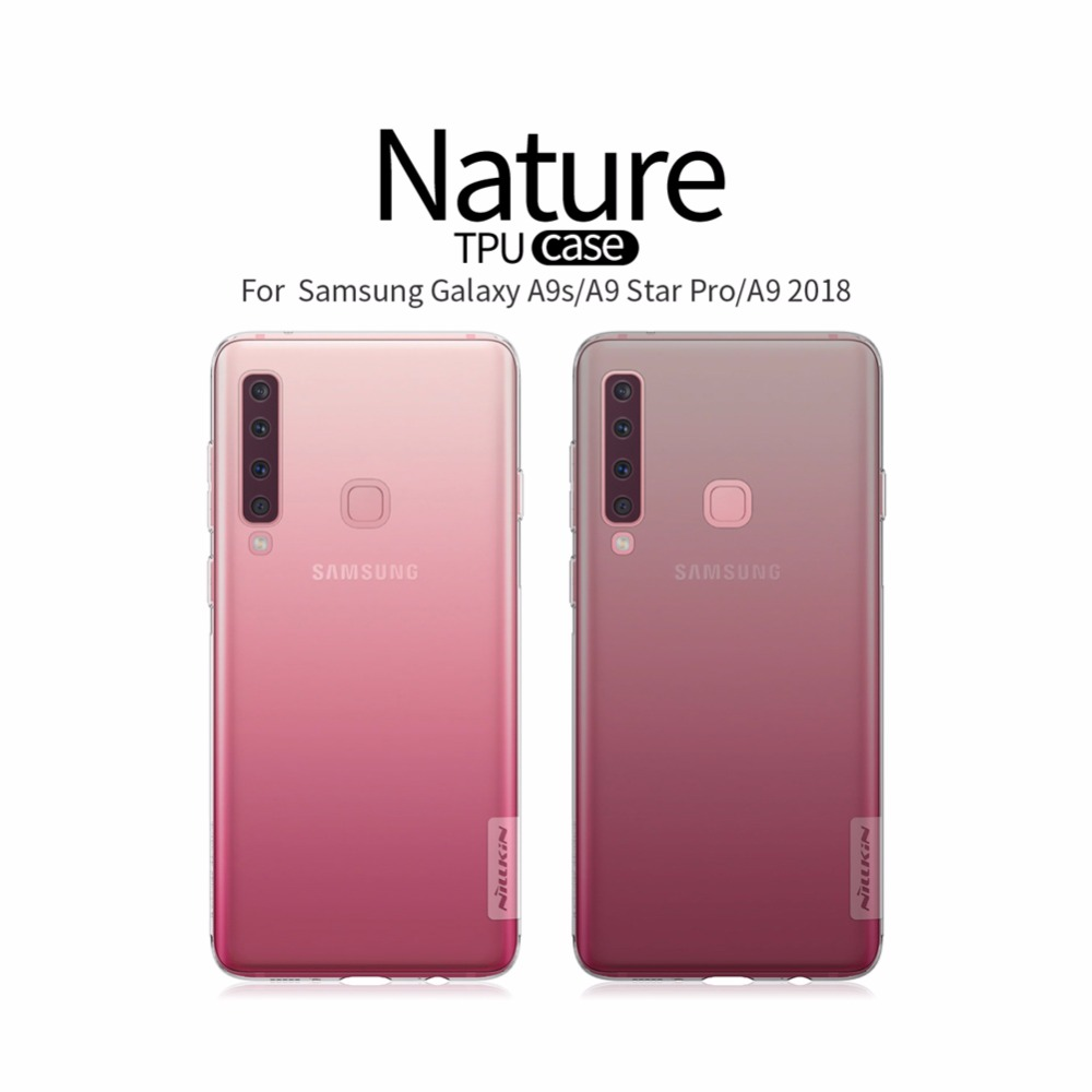 A9s Case for Samsung Galaxy A9s Nillkin TPU 0.6mm Ultra thin Phone Case Silicone Cover Crystal Clear Case for A9 2018 Case
