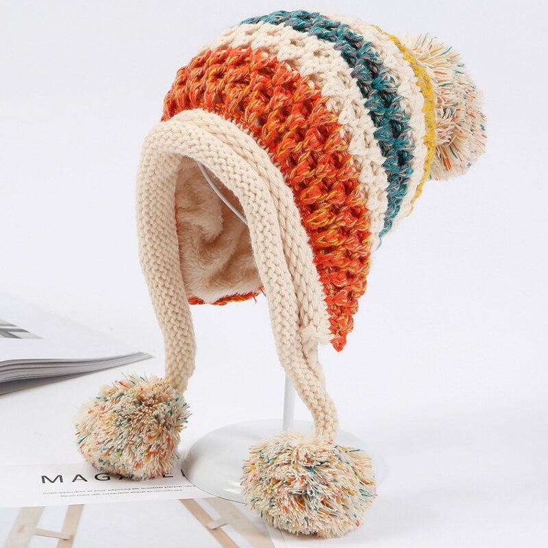 Gemvie Baby Girls//Kids 2-6 Months Pom Pom Knitted Stretchy Beanie Hat Skull Cap
