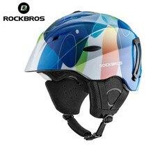 ROCKBROS Ski Helmet Integrally-molded Skiing Helmets Safety Protect Adult Kids Thermal Ultralight Snowboard Skateboard Head Wear