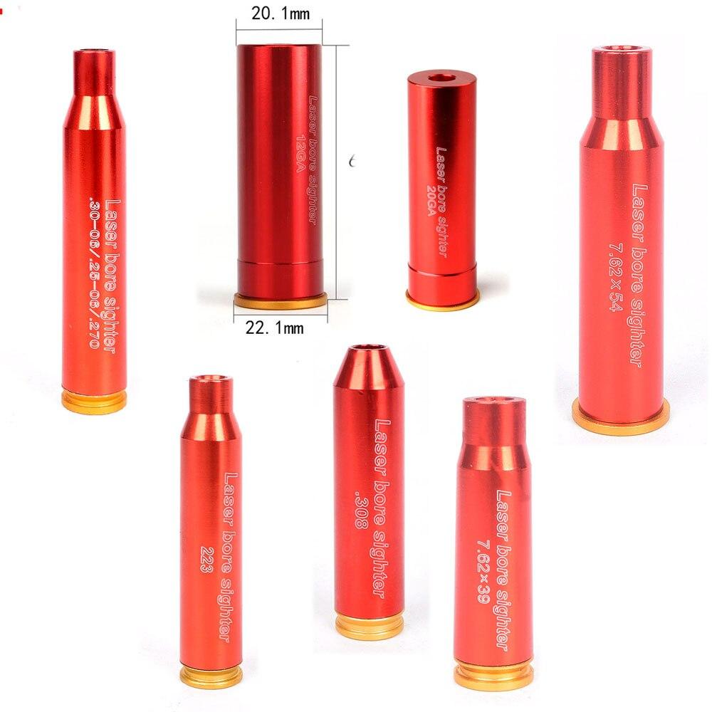Vermelho caça laser vermelho boresight cal.308. 223 30-06 cal7.62x39 7.62x54 12ga 20ga cartucho tático bore sighter