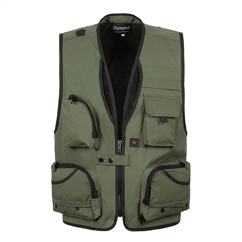 Summer Baggy Sleeveless Jacket For Men With Many Pockets Male Casual Breathable Gilet Photographer Vest Waistcoat 5XL