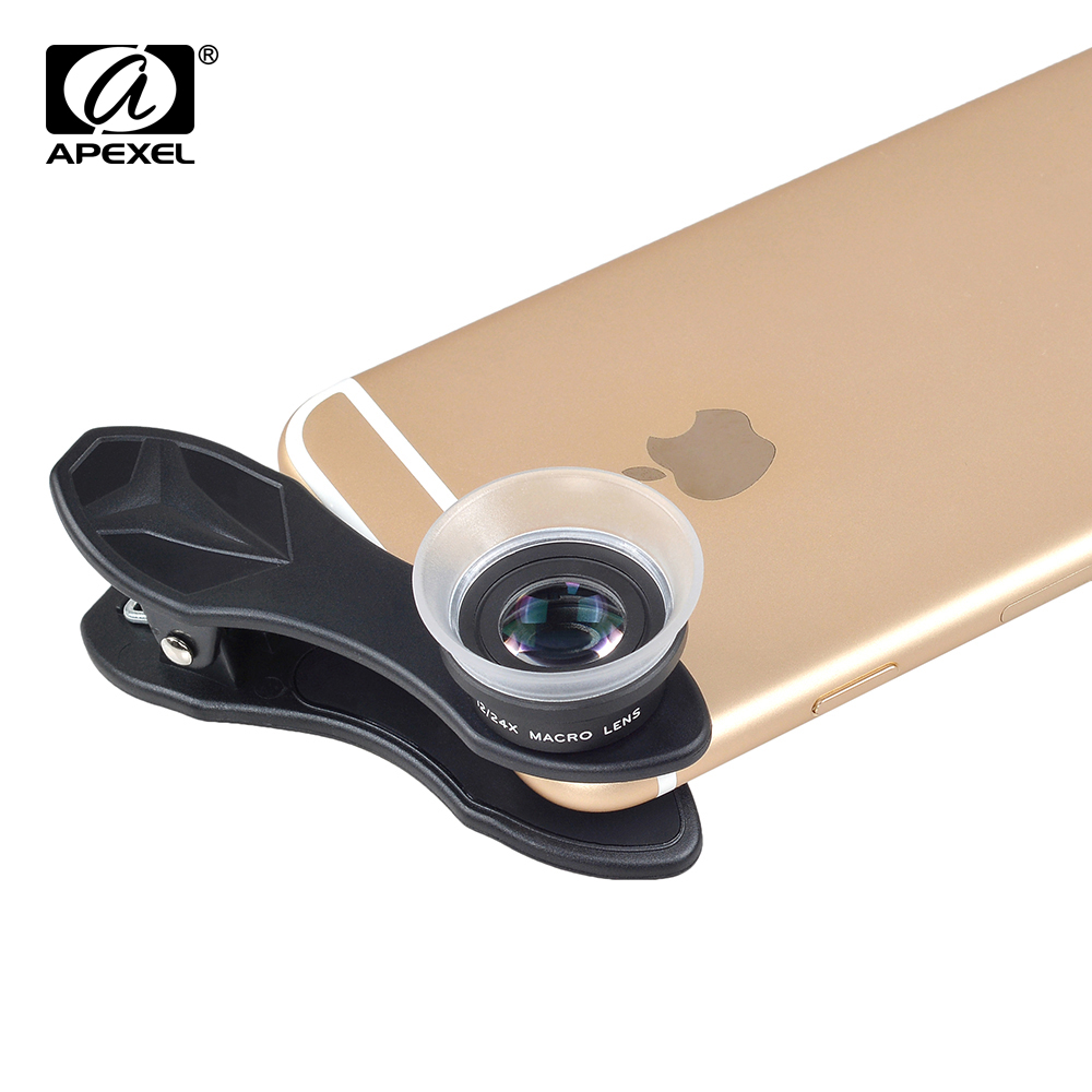 Image 5 - APEXEL 10pcs/lot Phone Lens, 2 in 1 12X Macro+24X Super Macro Camera Lens Kit for iPhone Samsung Xiaomi Red Smartphones APL 24XM-in Mobile Phone Lens from Cellphones & Telecommunications
