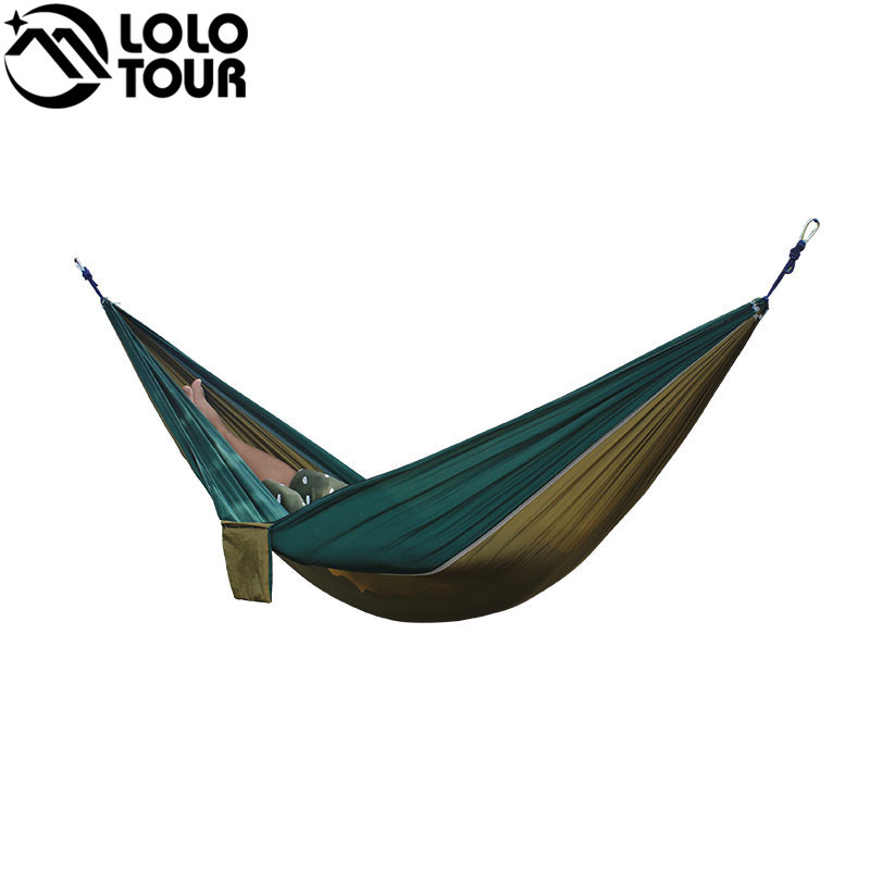 Outdoor double Hammock Portable Parachute Cloth 2 Person hamaca hamak rede Garden hanging chair sleeping travel swing hamac 2017 2 people hammock camping survival garden hunting travel double person portable parachute outdoor furniture sleeping bag