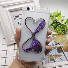 Cute Liquid Glitter Quicksand Case for Huawei P6 P7 P8 P9 P10 P20 P30 Lite Plus Smart Pro Plus 2017 G7 G8 GX8 Mini G9 Case Cover(China)
