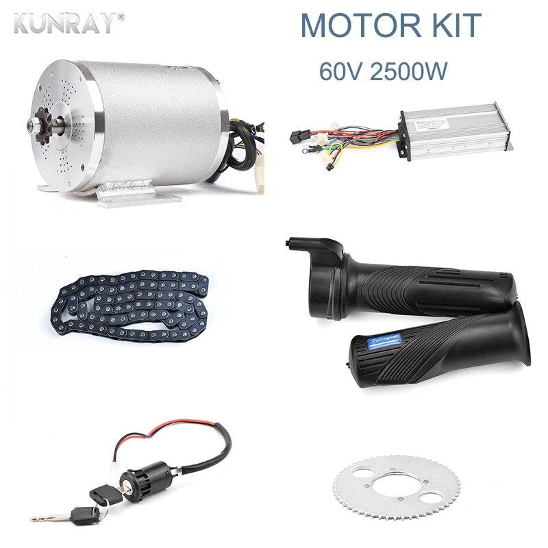 60 v 2500 watt Bürstenlosen DC Motor Elektrische Fahrzeug, Elektrische Roller Motor Conversion Kit Mit Controller, kette Und Gas Teile