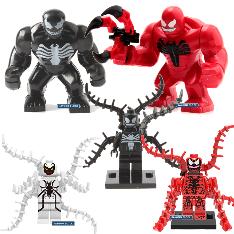Single Sale Large Super Heroes Classic Movie Venom Hulkbuster Darkseid Figures Set Building Block Brick KF276