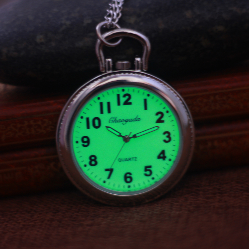 2018 CYD Women Men Kids Pocket Watch Big For Students Test Quartz Clock Key Chains Nurse Medical Luminous Pocket Watch Feminino