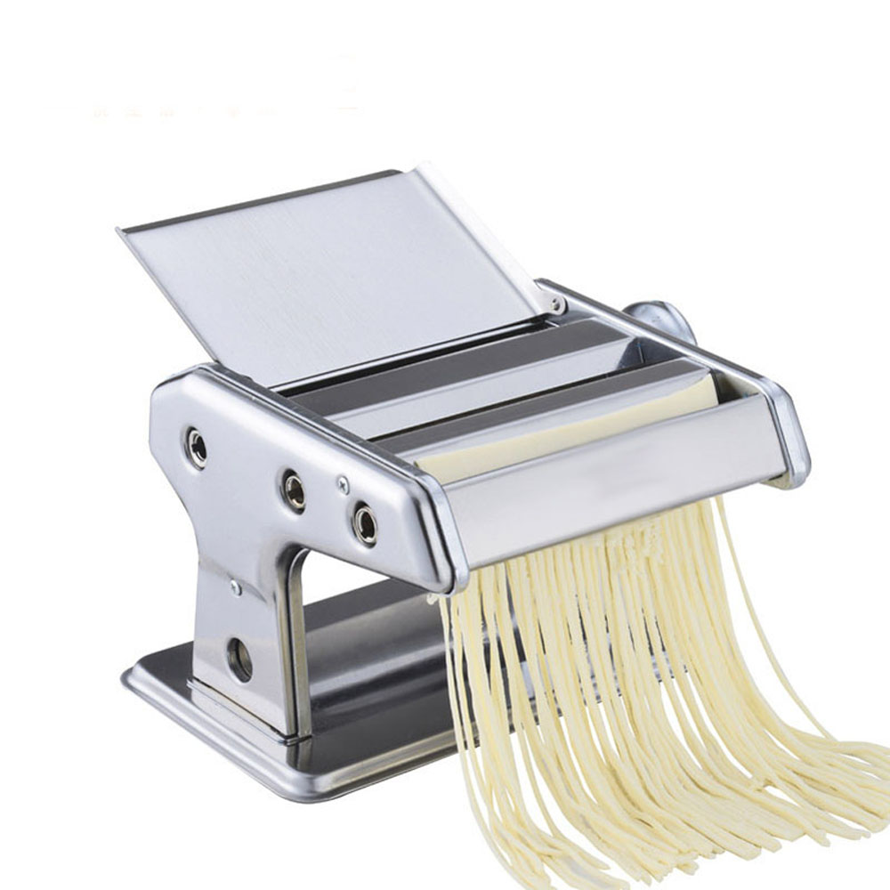 Stainless Steel ordinary 2 Blades Pasta Making Machine Manual Noodle Maker Hand Operated Spaghetti Pasta Cutter