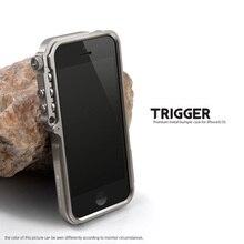 Trigger metal bumper case for iphone 5s 5 se 4 4s M2 4th design premium Aviation Aluminum bumper phone case tactical edition