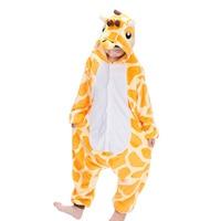 New Flannel Children Boys Girls Pajamas Winter Warm Animal Giraffe Pyjamas Kids Onesie Sleepwear Infantil cosplay pijama